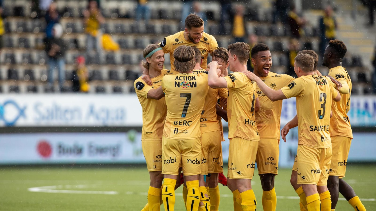 Glimt mot Kristiansund på hjemmebane 2020.