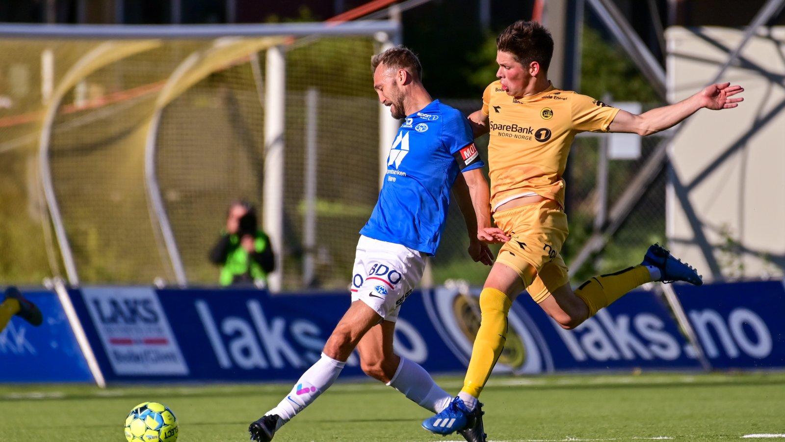 Sondre Brunstad Fet under hjemmekampen mot Molde i 2020.
