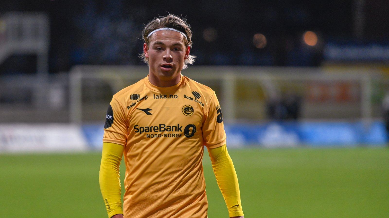 Patrick Berg under kampen mot Rosenborg. Han måtte ut med skade i første omgang.