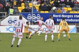 Bodø/Glimt mot Tromsø. TIL på kamp på Aspmyra i 2018.