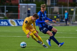 Håkon Evjen og Kasper Junker i hjemmekampen mot Stabæk 2019.