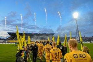 Bodø/Glimt klare til å spille kamp mot Rosenborg. Fyrverkeri for å åpne serien på ordentlig vis.