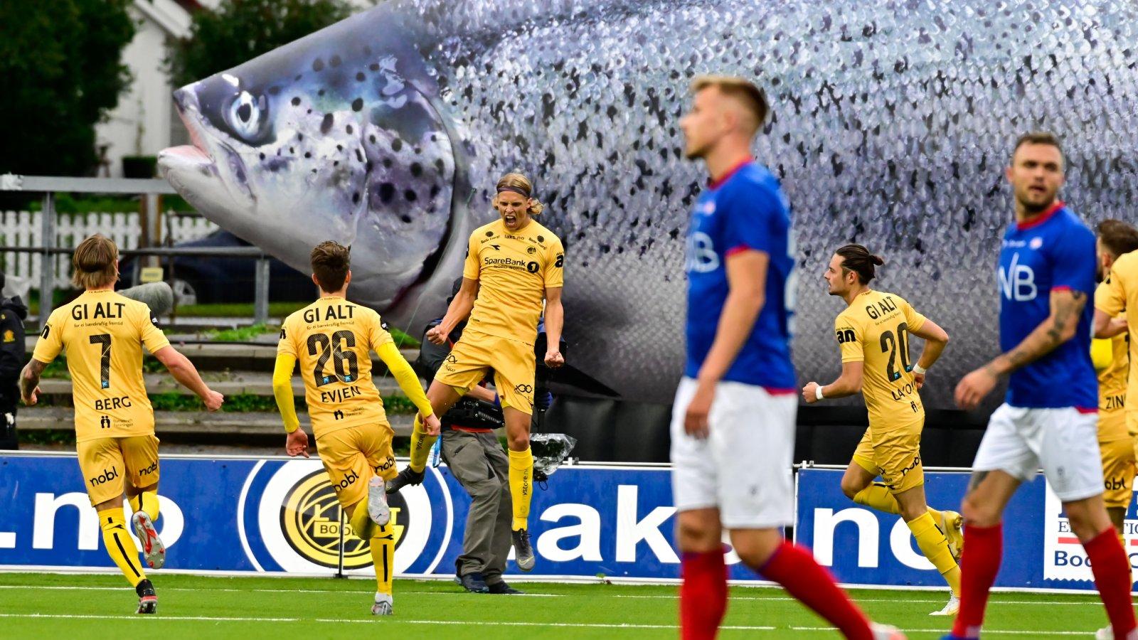 Ulrik Saltnes scoret mål mot Vålerenga på hjemmebane i 2019 under laksekampen.
