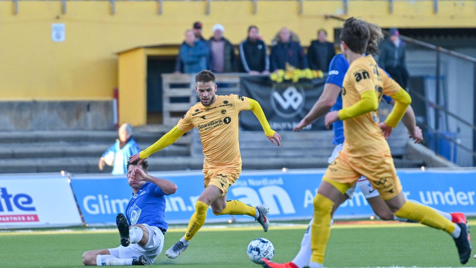 Philip Zinckernagel i kampen mot Molde på Aspmyra i 2019.