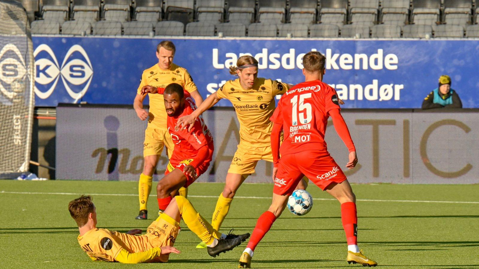 Bodø/Glimt under kampen mot Lillestrøm på Aspmyra.