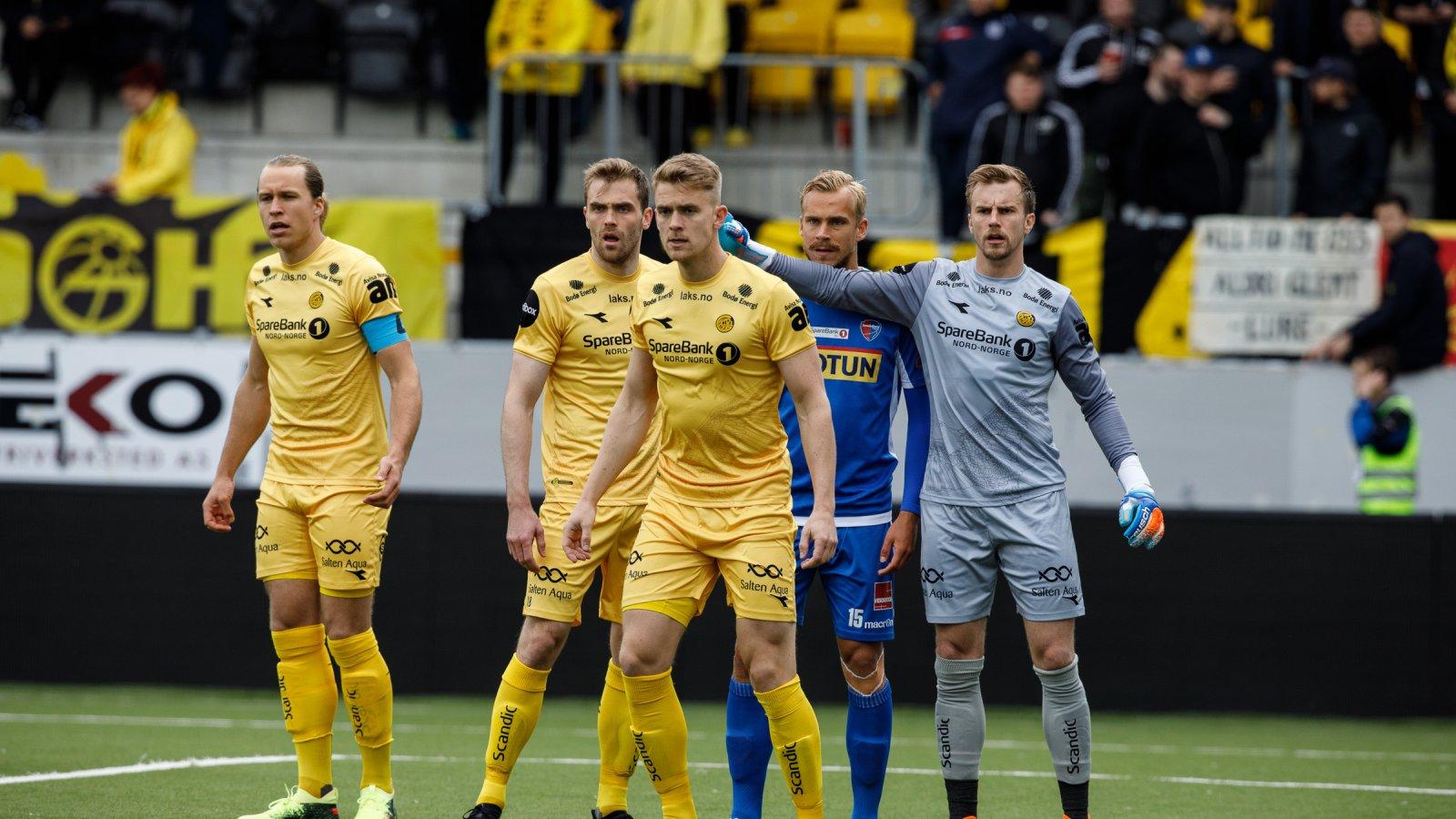 Martin Bjørnbak, Brede Moe, Kristian Aardal Opseth og Ricardo Friedrich mot Sandefjord på Aspmyra.