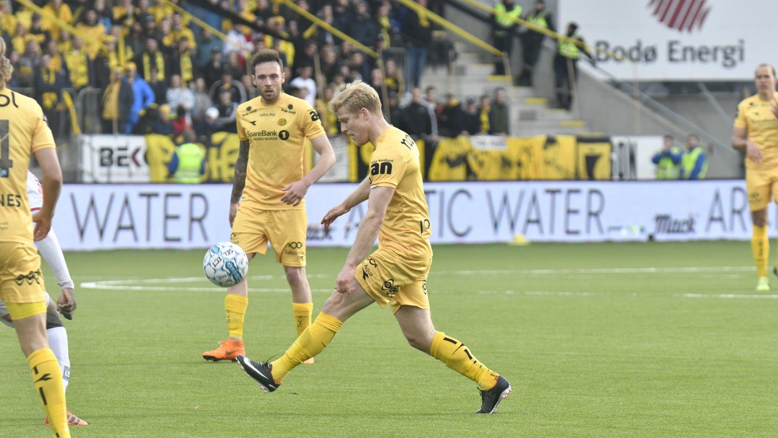Emil Jonassen og José Angel mot Tromsø 16. mai 2018.
