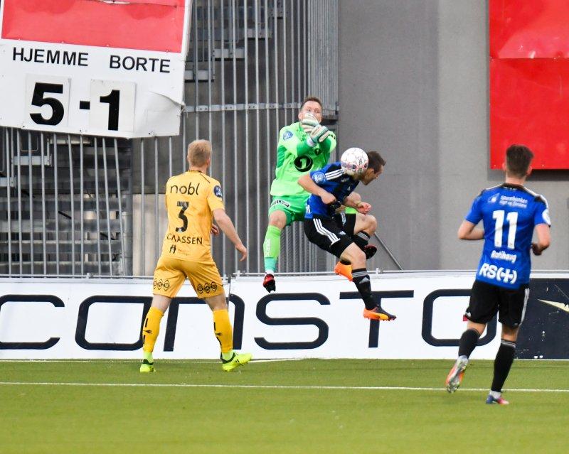 Tøff i duellene: Den målfarlige spissen besøkte Bodø i høst. Det endte med 4-1-seier og opprykk for Glimt. Foto: Kent Even Grundstad