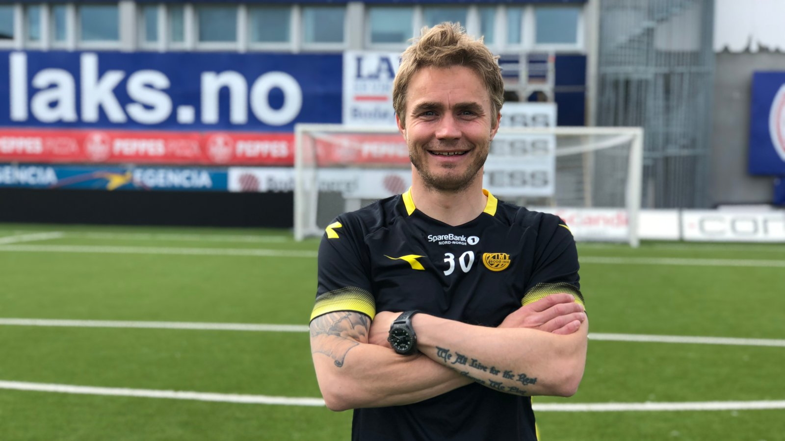 Trond Olsen foran målet han satt inn 2-0 mot Tromsø i.