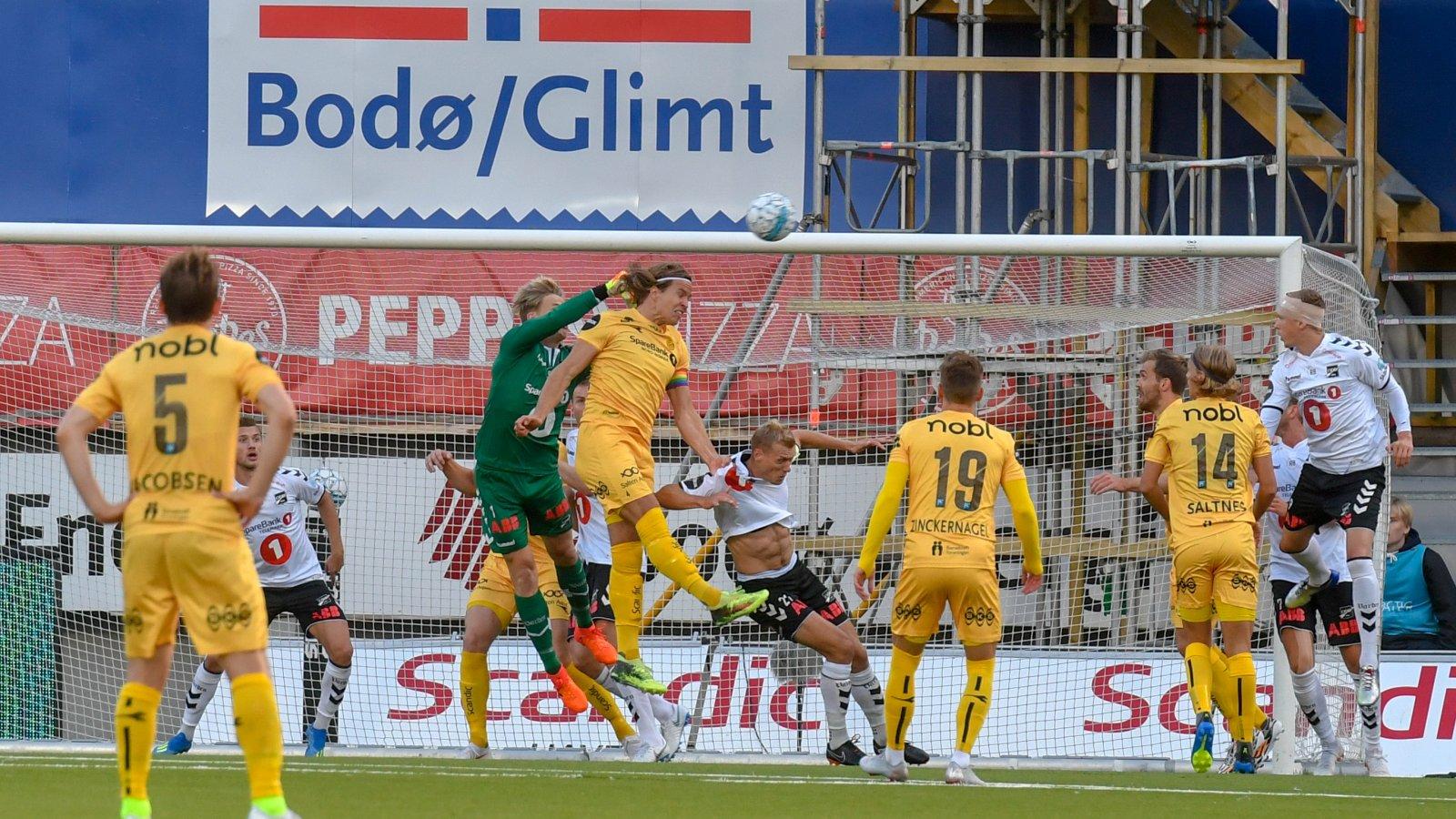 Bodø/Glimt mot Odd på Aspmyra i 2018.
