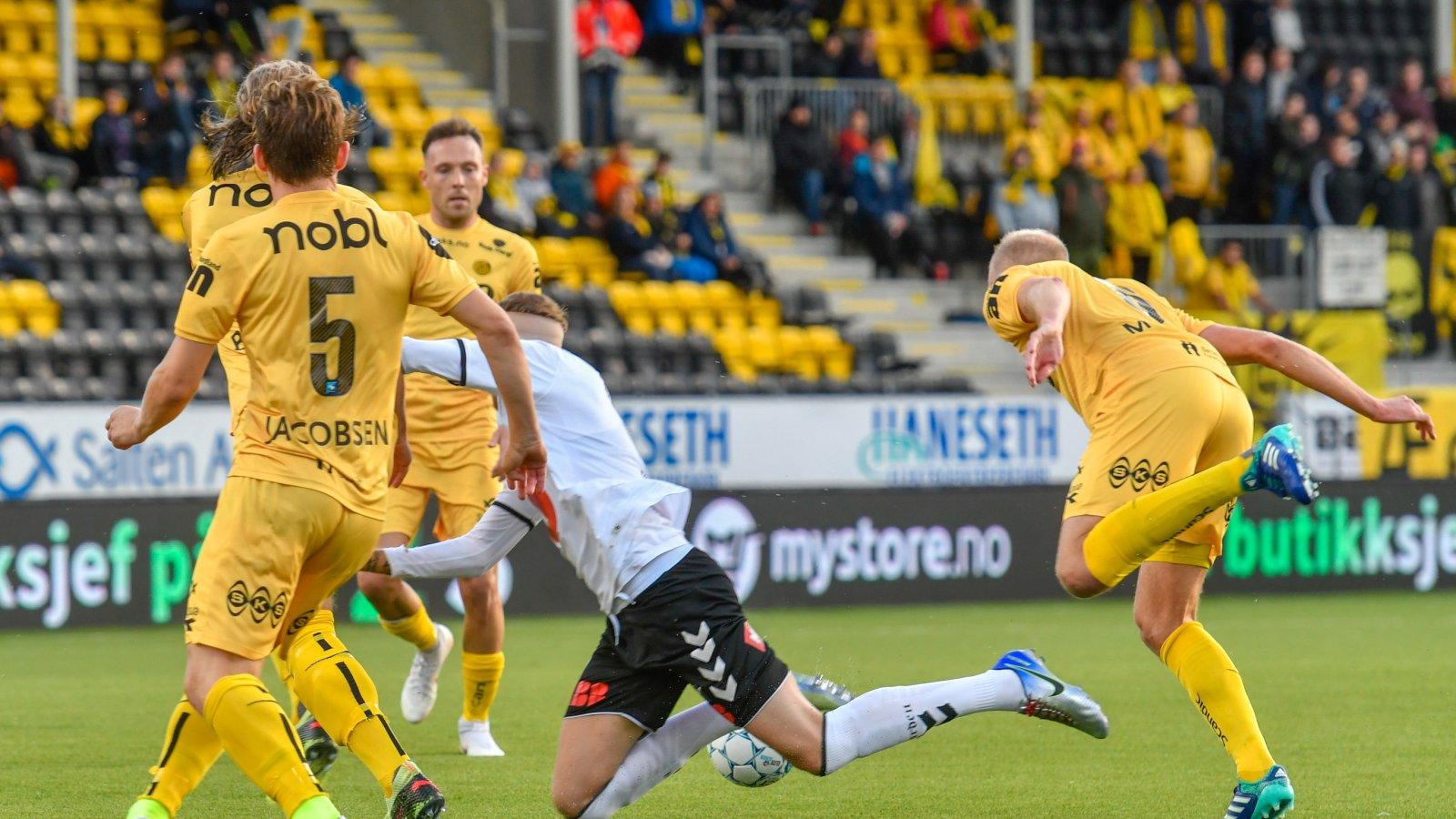 Bodø/Glimt mot Odd på Aspmyra.
