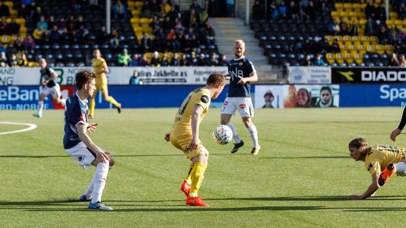 Bodø/Glimt mot Strømsgodset hjemme på Aspmyra 6. mai 2018.