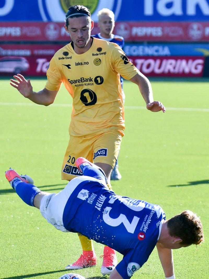 Amor Layouni fikk sin debut for Glimt i 3-3-oppgjøret mot Ranheim i juli. Foto: Kent Even Grundstad