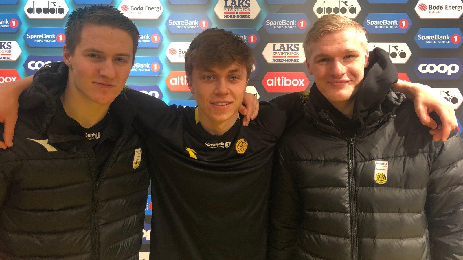 Lasse Lien, Jonas Skipstad og Sivert Jarmund.