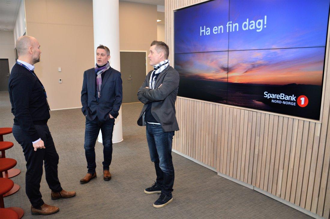 52bb172d Bertil Sandvik Aas i SpareBank 1 Nord-Norge har god kontakt med brødrene  Trond og Jørgen Amundsen. Foto: Lise Fagerbakk, innholdsprodusent Avisa  Nordland.