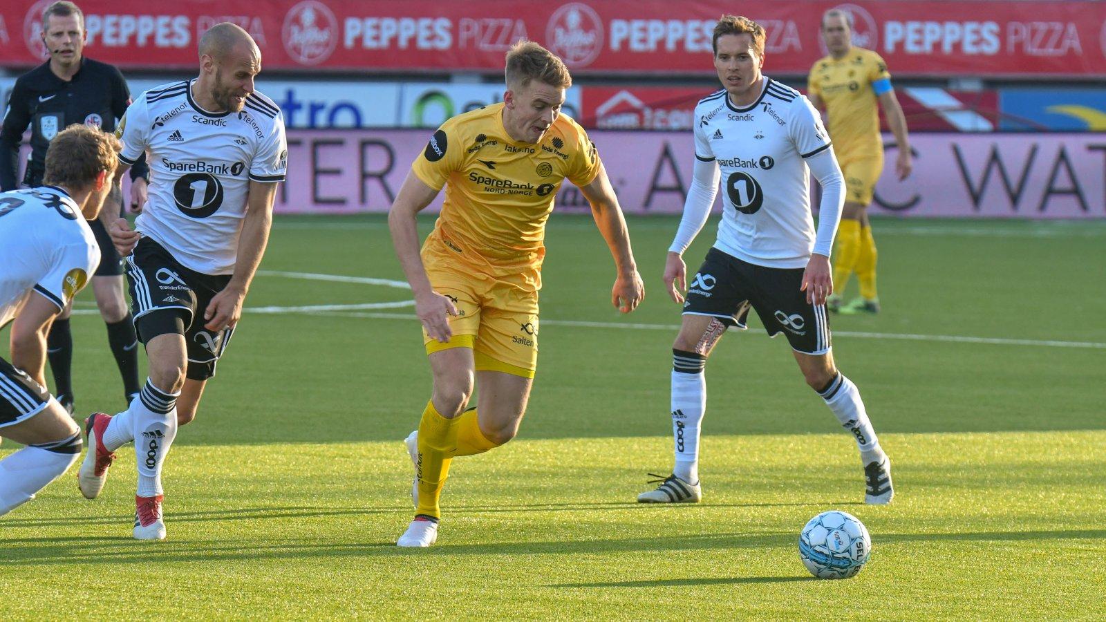 Kristian Fardal Opseth i kampen mot Rosenborg.