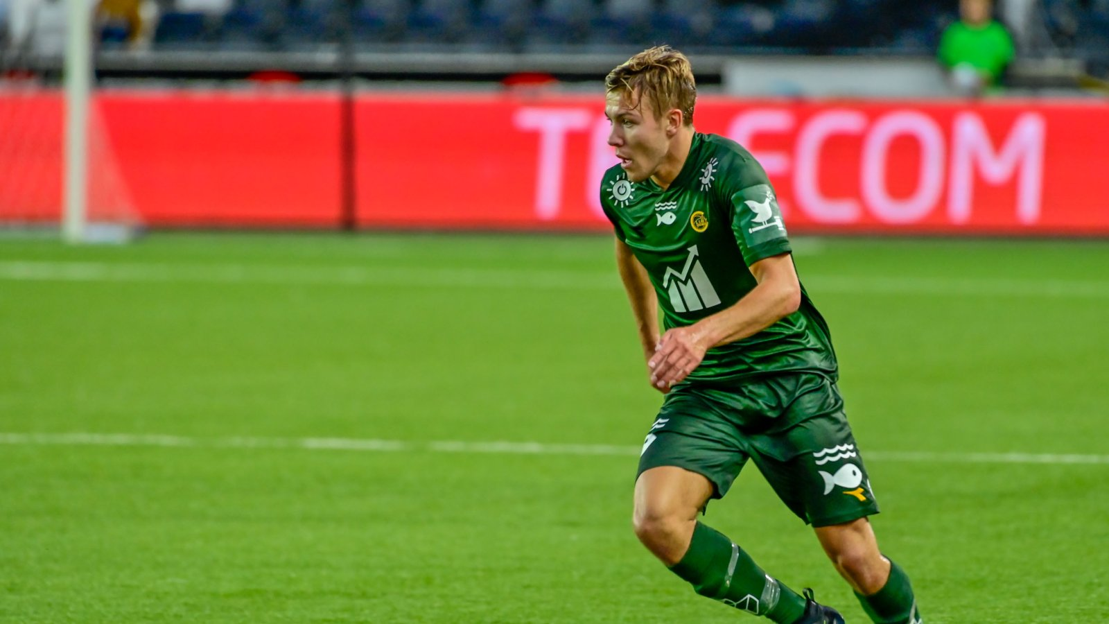 Fredrik André Bjørkan under bortekampen mot Odd 2019. Action Now.