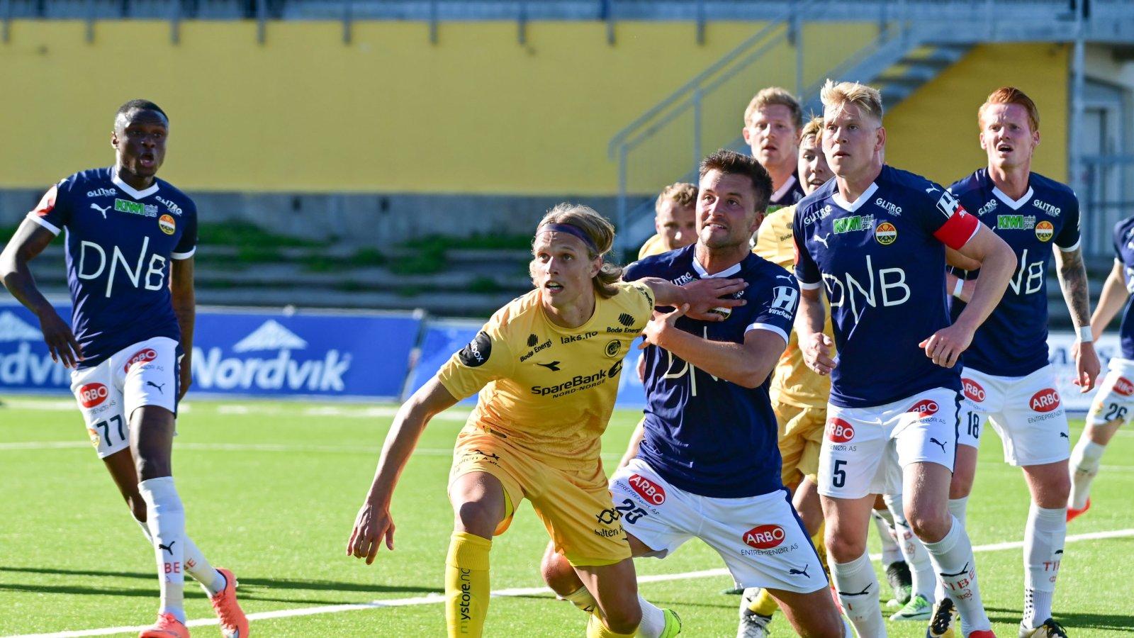 Bodø/Glimt mot Strømsgodset på Aspmyra.