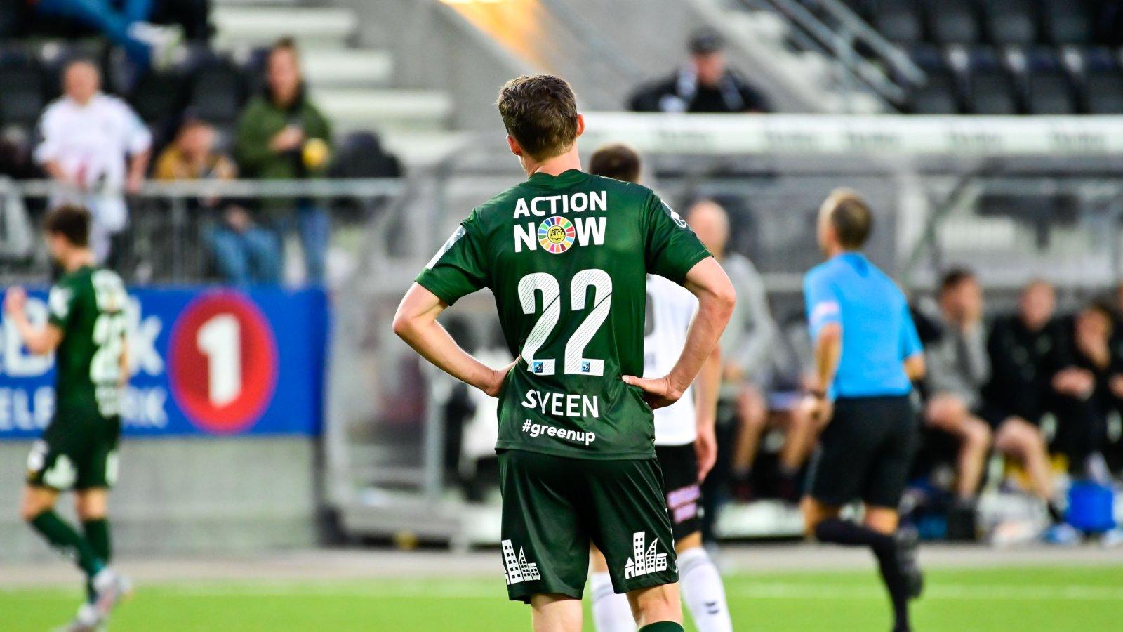 Ole Amund Sveen under bortekampen mot Odd i 2019. Action Now.