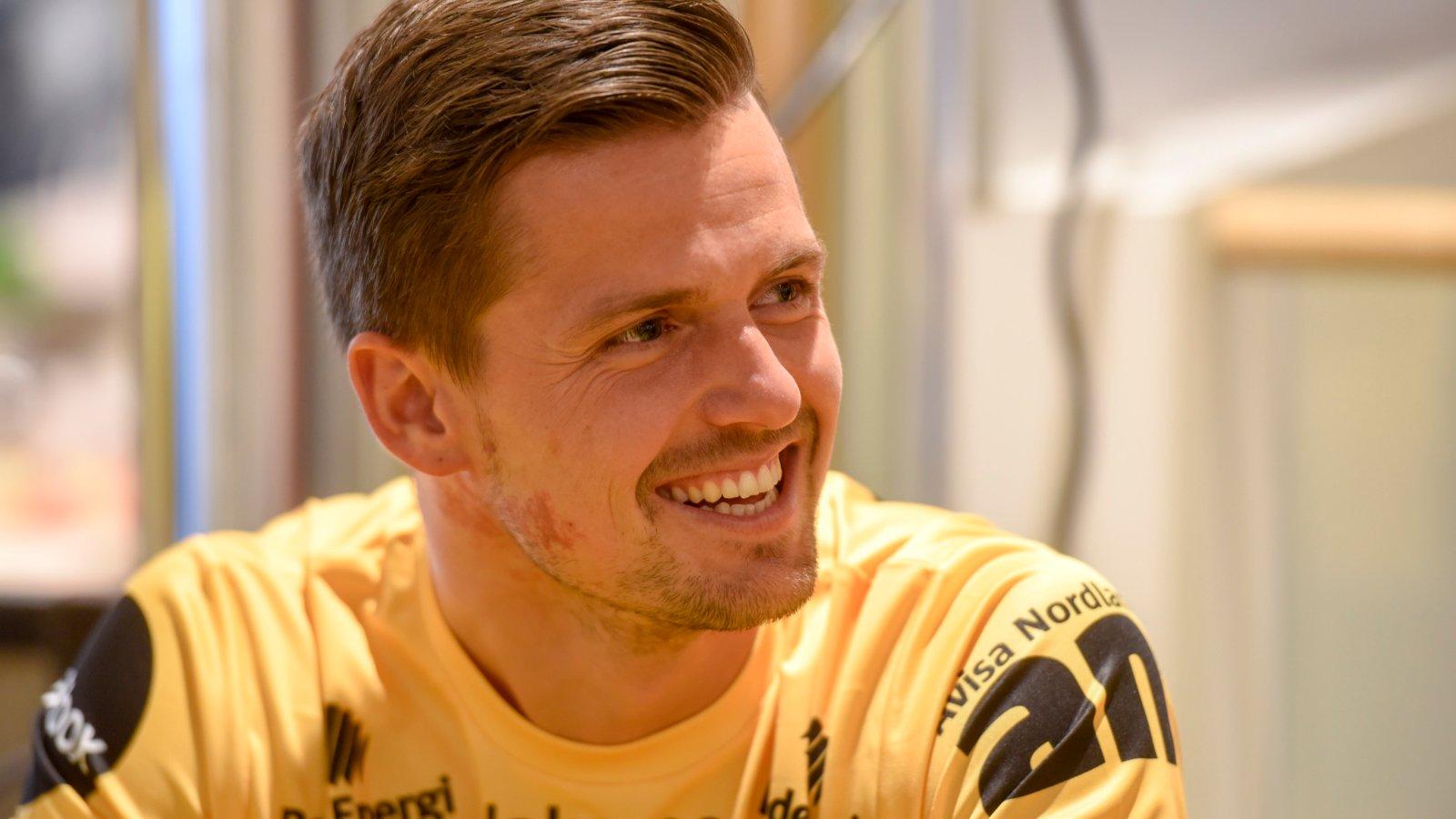 Eirik Wollen Steen på kick-off på City Nord før sesongen 2018.