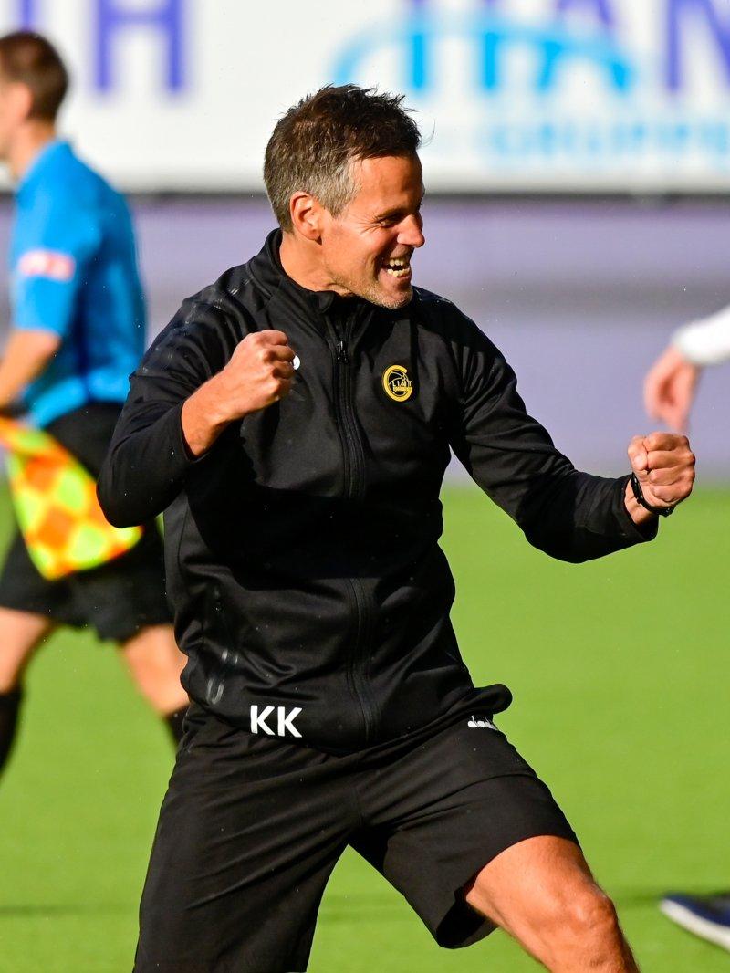 Kjetil Knutsen har hatt mye å juble for i år, selv om han var skuffet etter kampen mot Start. Foto: Kent Even Grundstad