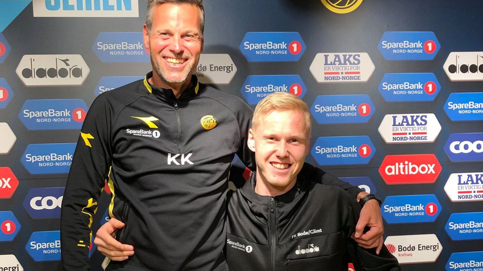 Trener Kjetil Knutsen og Vegard Bergan.