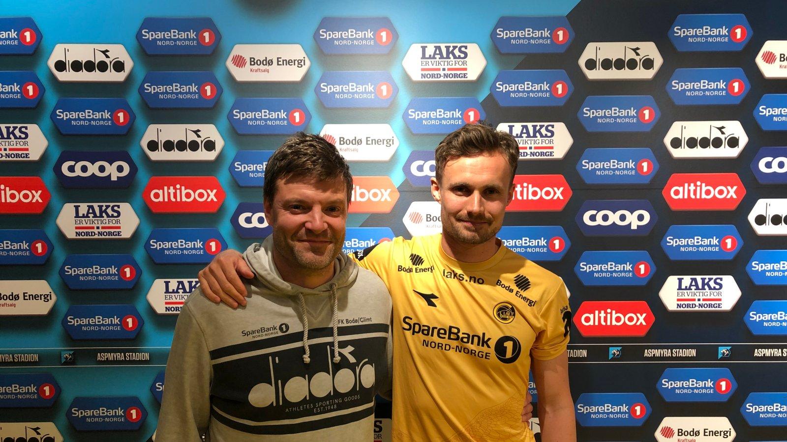 Sportslig leder Aasmund Bjørkan og Ole Amund Sveen.