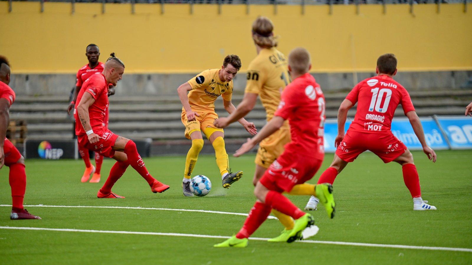 Bodø/Glimt mot Brann på hjemmebane i 2019. Håkon Evjen.