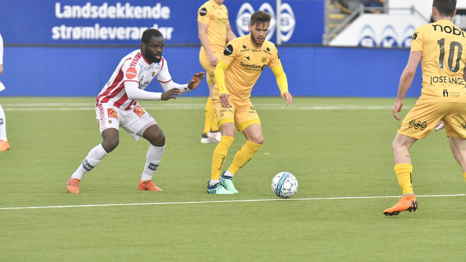Bodø/Glimt mot TIL på Aspmyra i 2018. Kamp mot Tromsø.