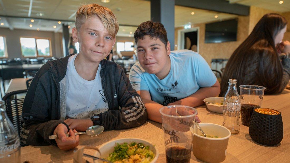 Mangus Torsteinsen (tv) og Victor Mendoza Gjengaar