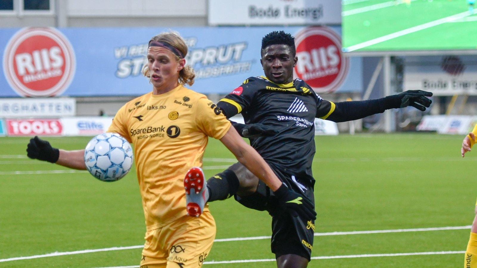 Ulrik Saltnes under kampen på Start.
