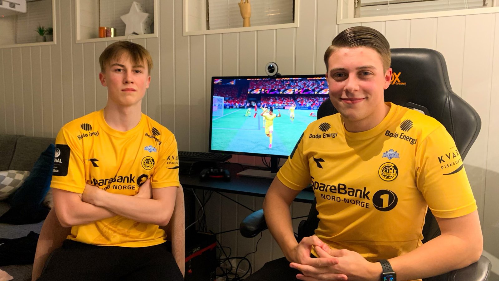Isak Øvrevold og Max Garcia. Altibox eSerien. E-sport 2020. Bodø/Glimt.