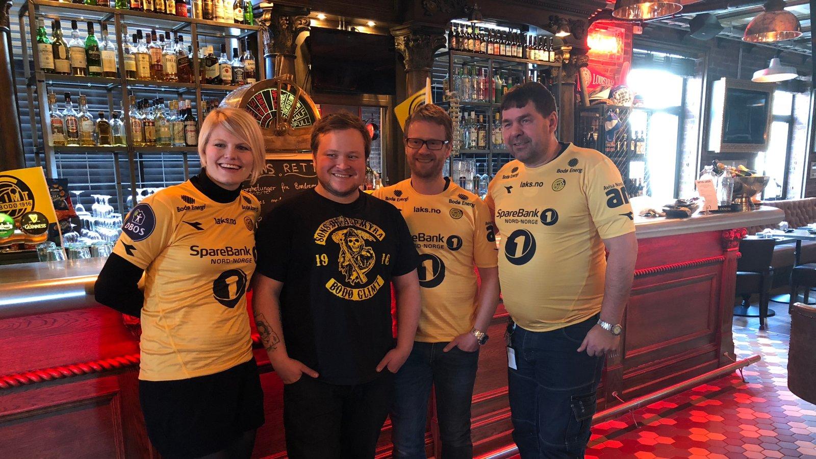 Jannike Ramsvik, Christoffer Klette, Erik Tostrup og Kjetil Linchausen på Styrhuset.