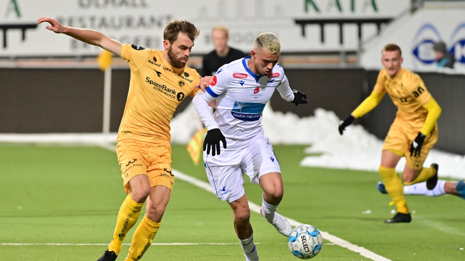 Brede Moe i kampen mot Haugesund hjemme i 2019. Kamp.