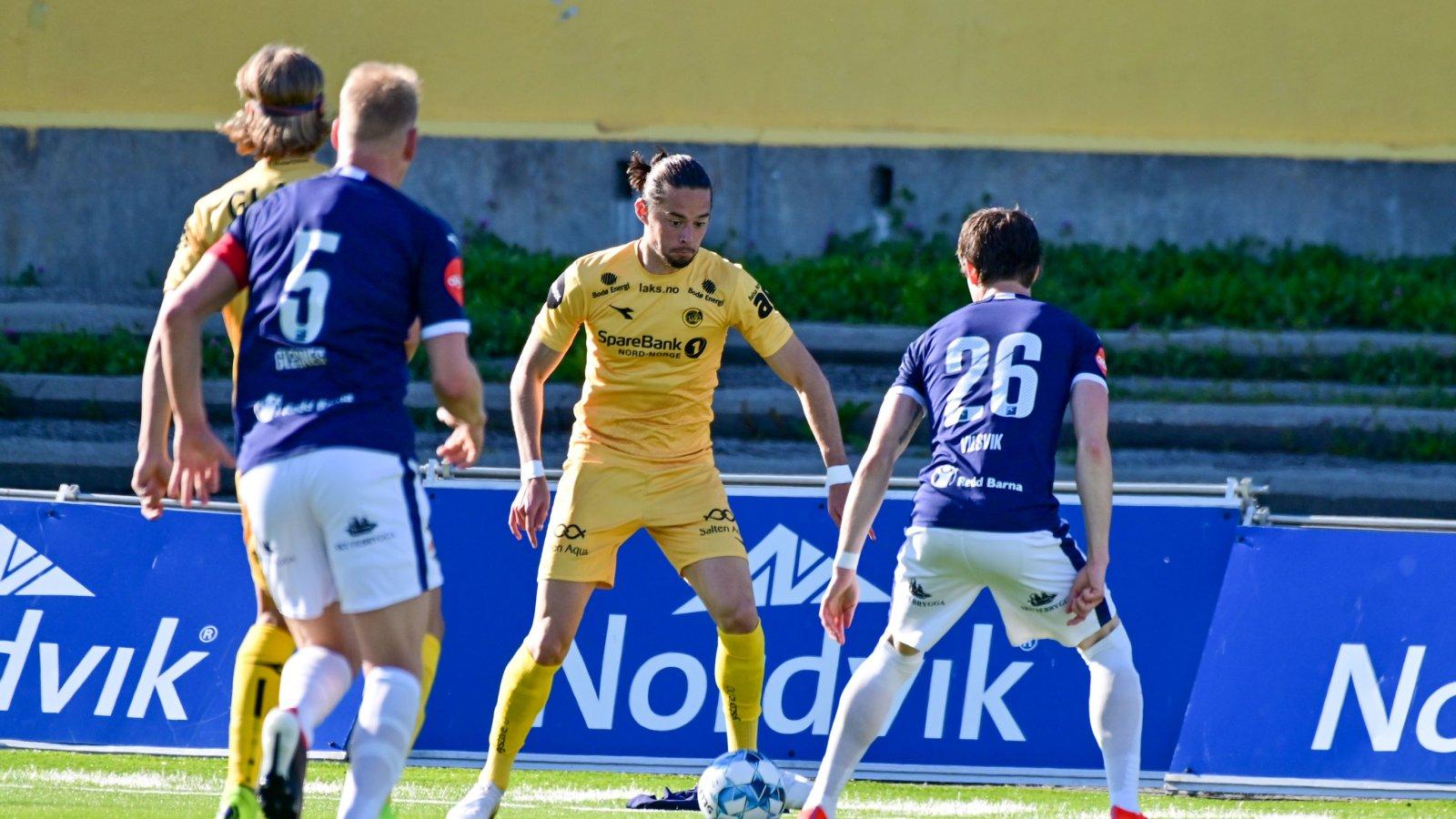 Amor Layout under kampen mot Strømsgodset. Kampen endte 2-0 til Glimt.
