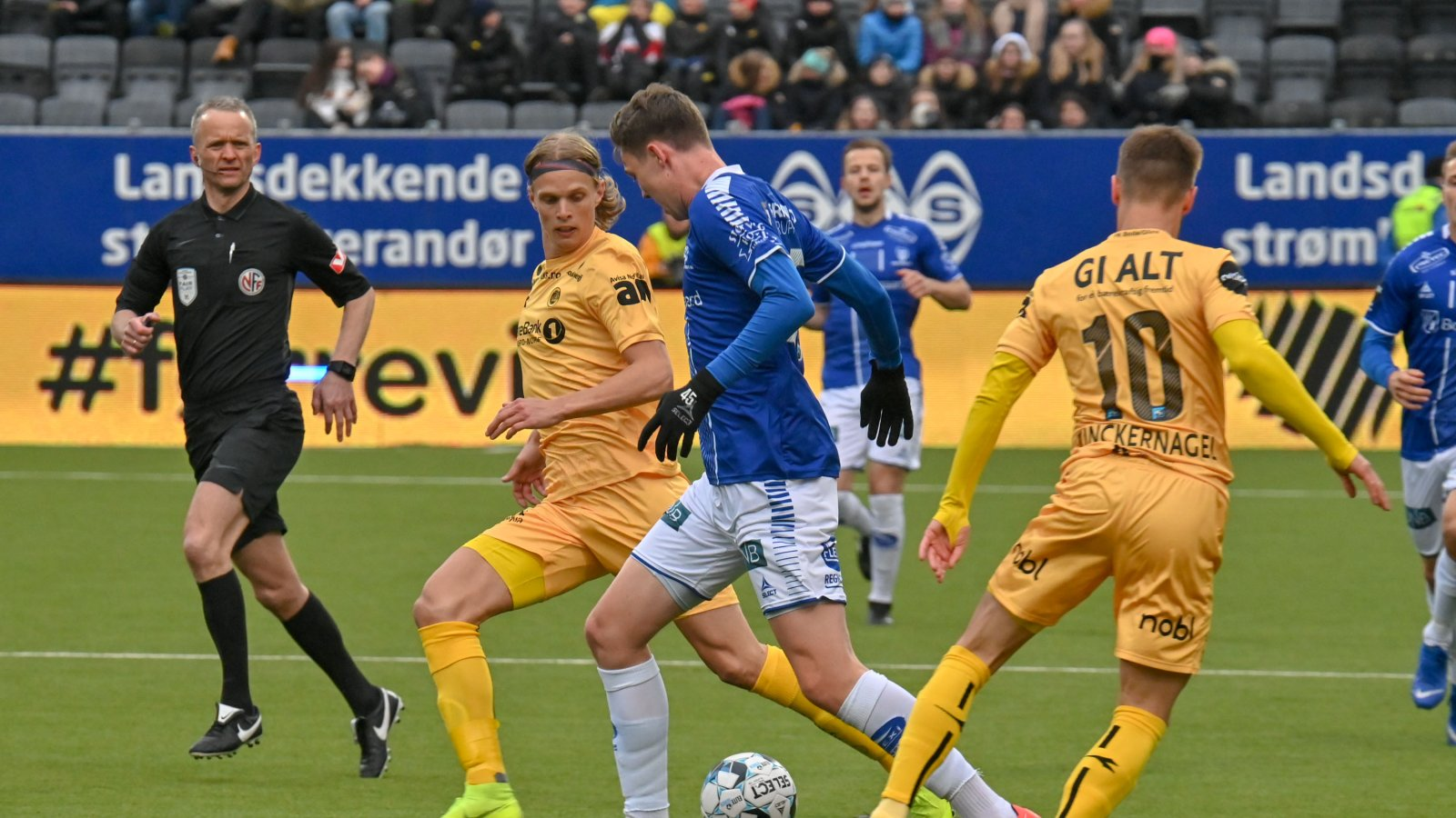 Ulrik Saltnes i kampen mot Sarpsborg 08 i 2019.