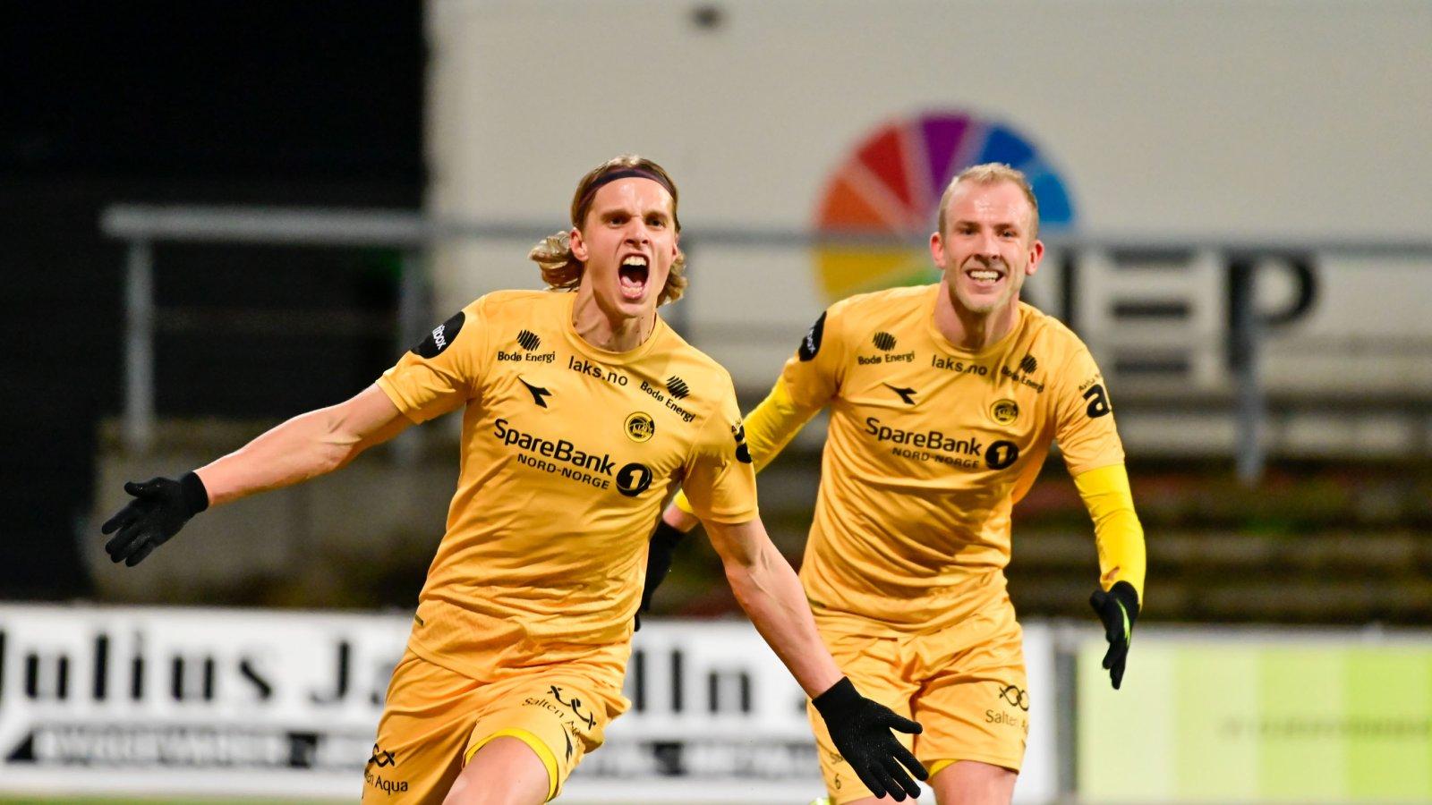 Ulrik Saltnes i kampen mot Kristiansund hjemme 2019.