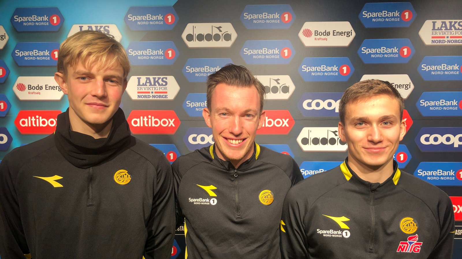 Nicolai Wårheim Moholt, trener Tom Dent, Preben Mohaug. Bodø/Glimt 2.