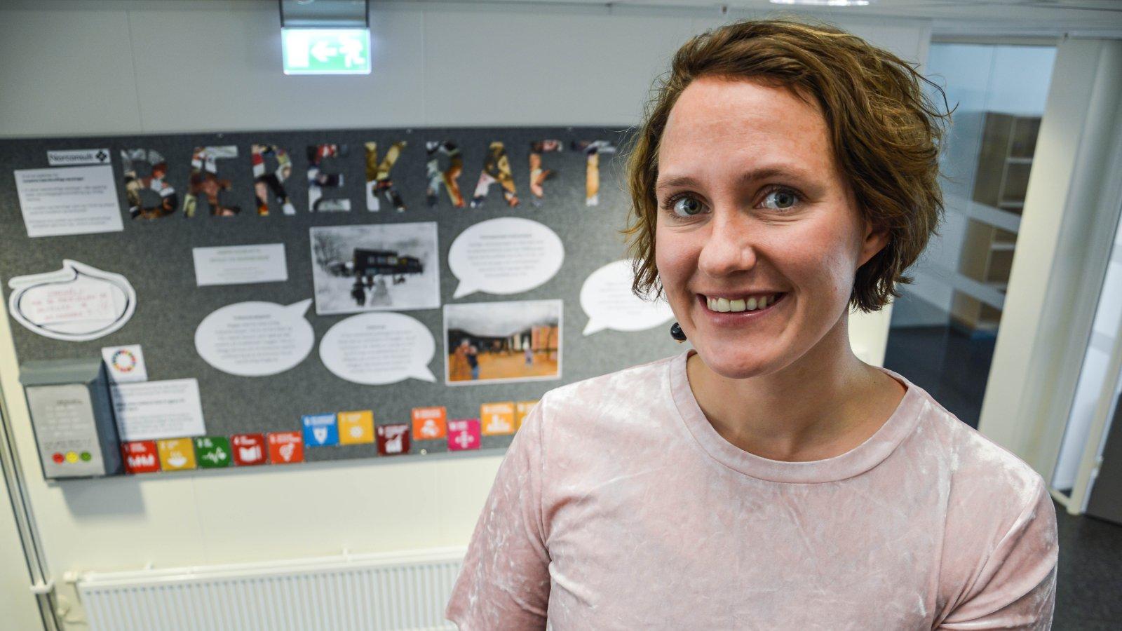 Sivilingeniør Anna Gjörup i Norconsult Bodø, er prosjektleder for selskapets satsing på bærekraft.