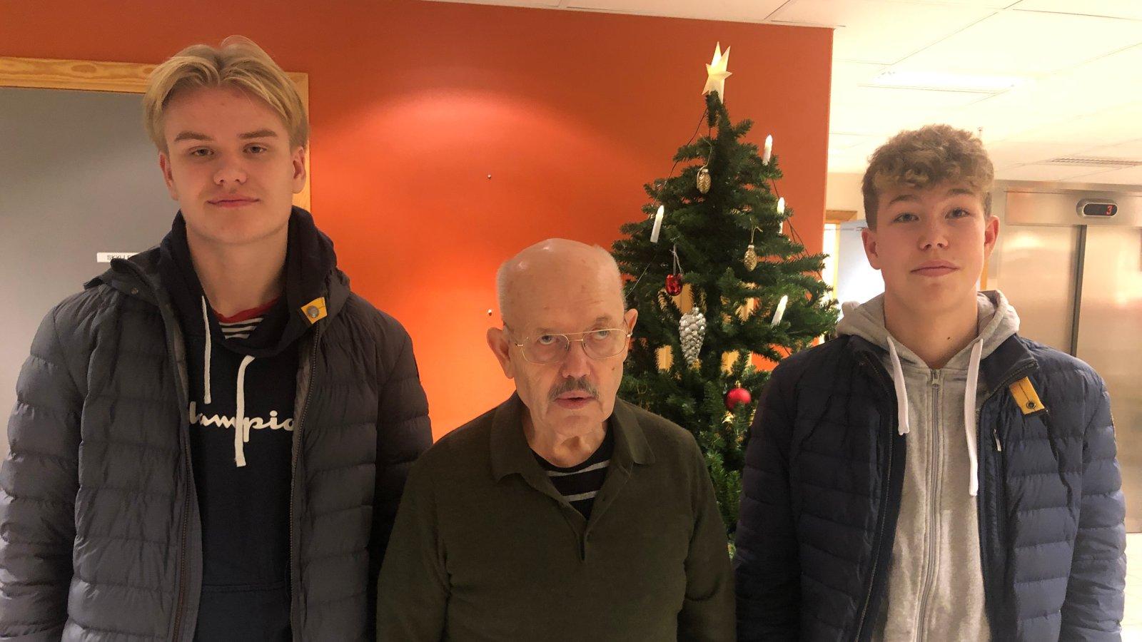 Emil Pedersen, Eilert Mjelle og Truls Hagenes.