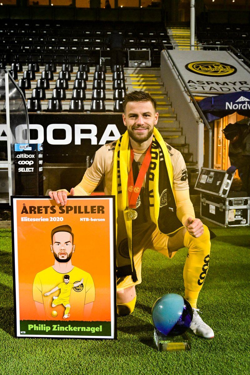 Årets spiller i Eliteserien 2020: Philip Zinckernagel. Foto: Kent Even Grundstad