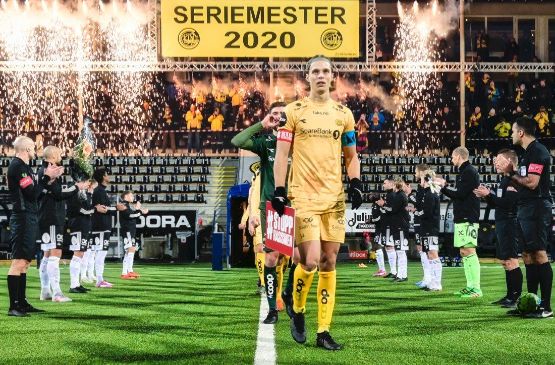 Ulrik Saltnes mot Rosenborg på Aspmyra i 2020