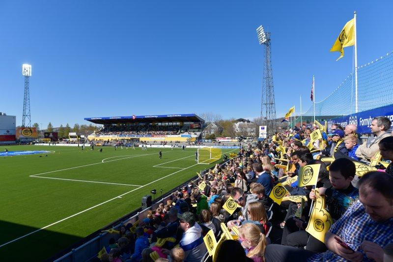 Aspmyra Stadion er i dag et moderne fotballstadion med sitteplasser til over 5500 mennesker.