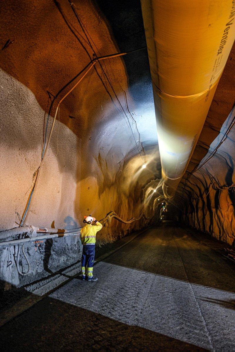 Leikanger tunnel. Foto: Anders Navarsete